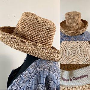 Nine & Company Hat Woven Straw Boho Beach Hat